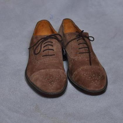 New Hand Stitched Men Brown Brogue ..