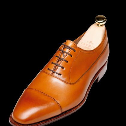 New Pointed Cap Toe Brown Oxford Vi..