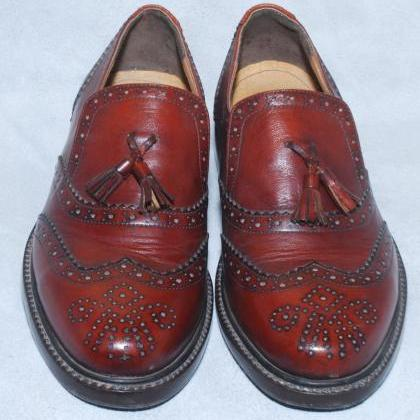 Moccasins Red Tassels Wing Tip Full..