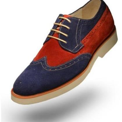 Handmade Men two tone suede leather..