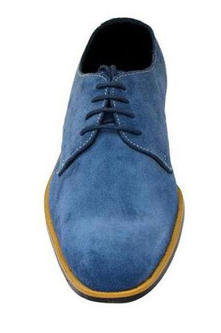 New Hand Made Blue Co-metro Casual Blue Original Leather Boots for Men's