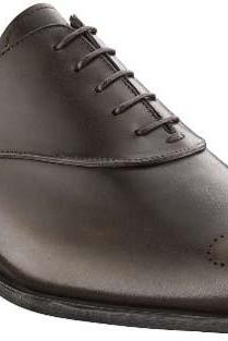 Hand Crafted Medallion Dark Brown Lace up Oxford Genuine Leather Shoes For Men Shoes 100% Handmade