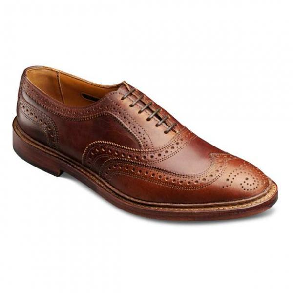 New Hand Crafted Men Brown Brogues Toe Wing Tip Lace up Oxford Genuine Leather Shoes
