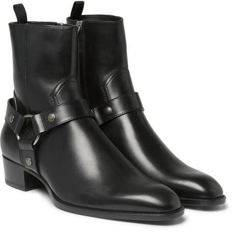 New Men Fashion High Ankle Side Zipper Black Boot, Men Genuine Leather Boot